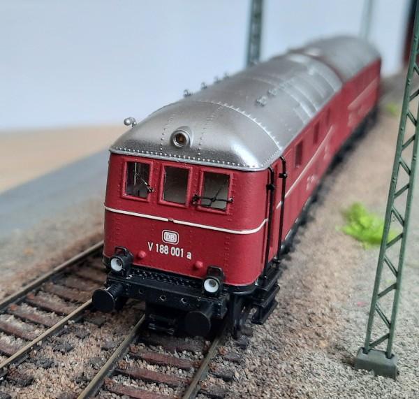 """Diesellokomotive der BR 288 der """"Deutschen Bundesbahn"""" Epoche III-IV"""